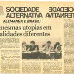 Alemanha e Brasil: realidades diferentes, mesmas utopias