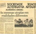 Sociedade Alternativa no Brasil e na Alemanha